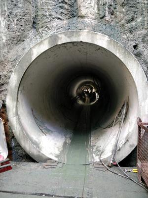 Fertige Tunnelröhre